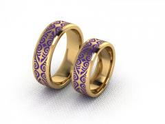 Обручальное кольцо RNG010094 Са?ина (Алтын 585) Эмаль