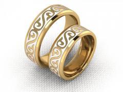 Обручальное кольцо RNG010088 Са?ина (Алтын 585) Эмаль