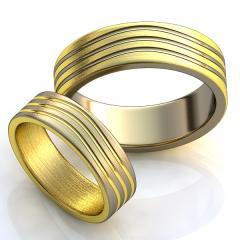Обручальное кольцо RNG010023 Са?ина (Алтын 585) Эмаль