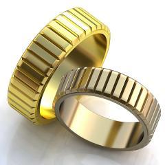 Обручальное кольцо RNG010007 Са?ина (Алтын 585) Фианит