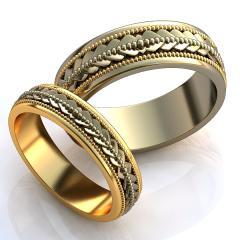 Обручальное кольцо RNG010072 Са?ина (Алтын 585)
