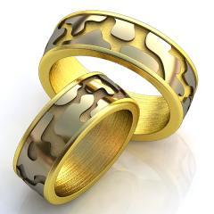 Обручальное кольцо RNG010011 Са?ина (Алтын 585) Эмаль
