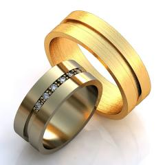 Обручальное кольцо RNG010055 Са?ина (Алтын 585) Эмаль