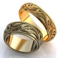 Обручальное кольцо RNG010067 Са?ина (Алтын 585) Эмаль