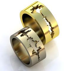 Обручальное кольцо RNG010001 Неке са?инасы (Алтын 585) Эмаль