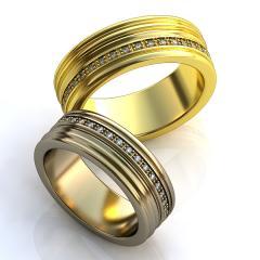 Обручальное кольцо RNG010029 Са?ина (Алтын 585) Фианит