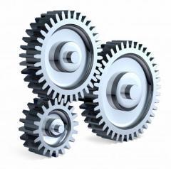 Gear wheels on special equipment: excavators,