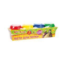Тесто для лепки Маша и медведь (4 цвета х 50 гр)