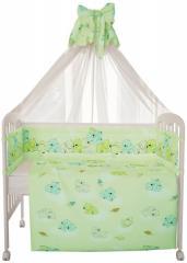 Комплект в кроватку Фея Мишки 7 предметов, зеленый