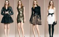 Вечерняя модная одежда