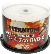 Диски DVD-R 4.7Gb 50шт