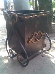 Ballot box metal shod for garbage