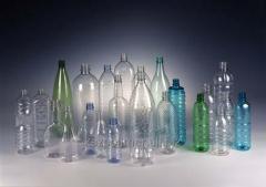 Plastic bottles 0.2l, 0.35l, 0.5l, 1 l, 1.5l, 2.0l