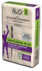 Plaster cement AlinEX Uniplaster M100 of 25 kg.