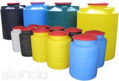 Capacity tanks for water
