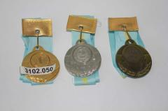 Medals with tapes in Almaty