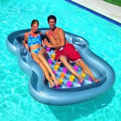 An air mattress for two with a support for