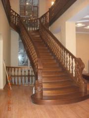 Лестницы деревянные элит класса