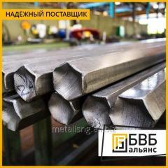 Шестигранник стальной жаропрочный 17 мм ХН77ТЮР (ЭИ437Б) ТУ 14-1-3953-84
