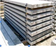 Plates for balconies, reinforced concrete