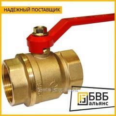 Кран латунный шаровой Pro Aqua Ду 40 Ру 25