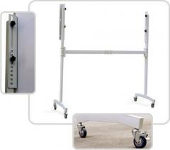 Supports for a board on castors (4 castors)