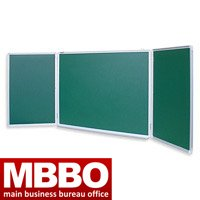 Three-leaved blackboard green, wall 1*3