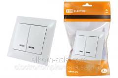 Выключатель 2 кл. с подсветкой 10А бел Лама TDM