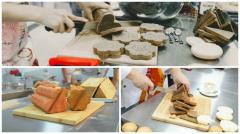 Необычные формы для тостового хлеба. Форма сердца, цветка и треугольника!