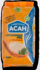 Polished round grain rice