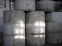 Rings concrete for facing and fastening of wells,