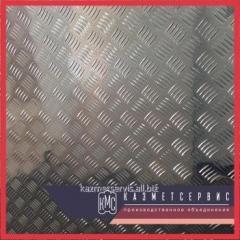 Лист рифленый нержавеющий 4 мм AISI 304 горячекатаный чечевица