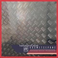 Лист рифленый нержавеющий 5 мм AISI 304 горячекатаный чечевица