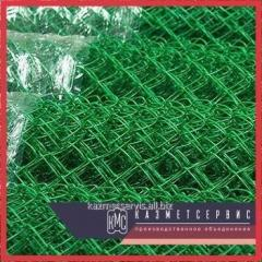 Grid the chain-link with a polymeric covering 25 x