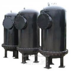 El cuerpo del filtro con la calefacción exterior