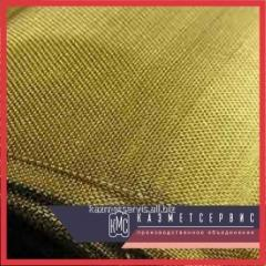 Grid woven brass 2,5x0,5 L80