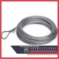 Cable of steel 10,5 mm of GOST 3077-80 of a double twist like LK-O PTM