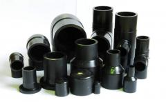 Transitions for polyethylene pipes