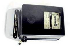 Electricity supply meter, three-phase, one tariff