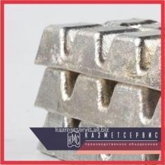 El lingote de metal О1ПЧ de estañ