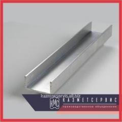 Швеллер алюминиевый 40х80х4 АМГ5