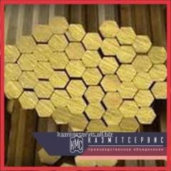 Hexagon of brass 10 mm of L63P