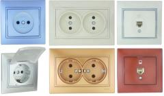 Sockets and switches hermetic, Sockets of the