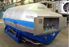 Tank trucks thermoses for technical liquids
