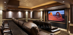 Home theaters and movie theaters in 3 d, ATMOS, 4