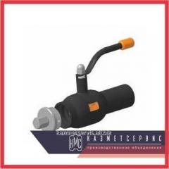 The crane of steel spherical LD of Du of 150 Ru 16 for gas a flange, with the handle