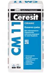 The gluing mix Ceresit CM 11 Ceramic