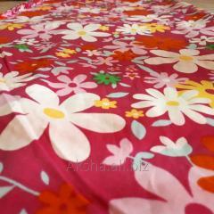 Хлопчатобумажная ткань с Красными Цветочками