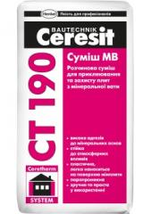 Mixes glue, Ceresit CT 190 plaster and glue mix