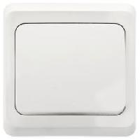 S290 Выключатель 1-кл. с/у Белый ЭТЮД  ВС10-001В